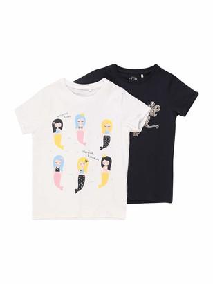 Name It Girl's Nmfvix 2p Ss Top D T-Shirt