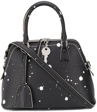 Maison Margiela mini 5AC paint-splattered tote