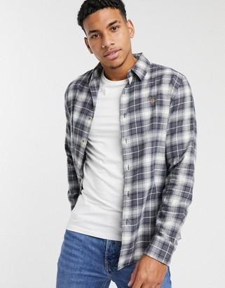 Farah Bushell plaid shirt in gray