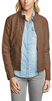 Only Women's Onlferry Pu Biker Otw Noos Leather Long Sleeve Jacket - brown -