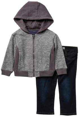 AG Jeans Twill Hoodie, T-Shirt, & Jeans Set (Baby Boys)