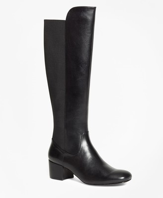 Brooks Brothers Elastic Back Leather Boots