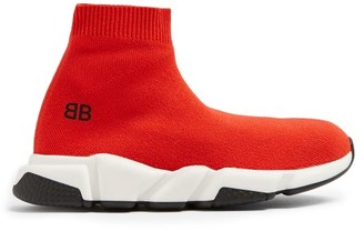 Balenciaga Kids Unisex Speed Trainers - Red