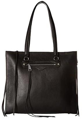 Rebecca Minkoff Always On Side Zip Regan Tote (Black) Tote Handbags