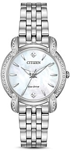 Citizen Jolie Diamond Eco-Drive Mother-of-Pearl Watch, 30mm