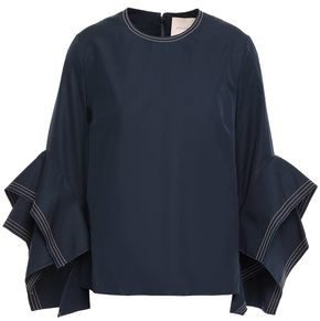 Roksanda Ruffled Cotton-poplin Top