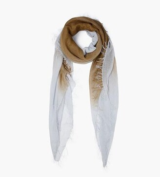 Chan Luu Fir Green Pearl Blue Clay Dip-Dyed Cashmere And Silk Scarf