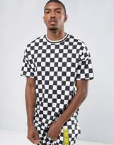Asos Oversized T-Shirt With All Over Grid Print