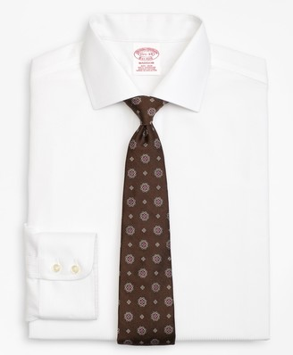 Brooks Brothers Madison Classic-Fit Dress Shirt, Non-Iron Textured Stripe
