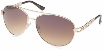 Laundry by Design Women's Ld281 Gldts Non-Polarized Iridium Aviator Sunglasses