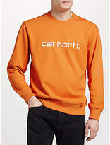 Carhartt WIP Graphic Embroidery Jersey Top, Jaffa/Wax