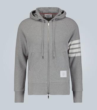 Thom Browne 4-Bar zip-up hooded sweatshirt