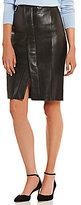 Antonio Melani Phoenix Asymmetric Genuine Leather Skirt