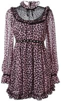 Giamba ruffle front animal print dress