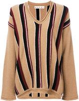 Marni striped V-neck jumper - women - Virgin Wool - 40