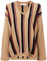 Marni striped V-neck jumper