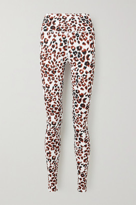 Varley Duncan Animal-print Stretch Leggings - White