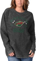 G Iii Women's G-III 4Her by Carl Banks Black Minnesota Wild Comfy Cord Long Sleeve Tri-Blend T-Shirt