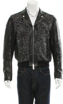 DSQUARED2 Boclé Leather Jacket