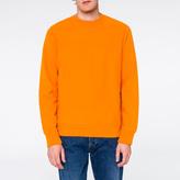 Paul Smith Men's Orange Organic Loopback-Cotton Sweatshirt