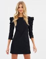 Miss Selfridge Taffeta Prawn Sleeve Dress