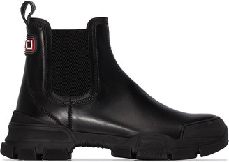 Gucci Leon leather boots