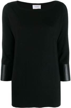 Snobby Sheep leather trim jumper