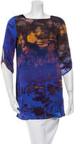 Rebecca Minkoff Silk Abstract Print Top