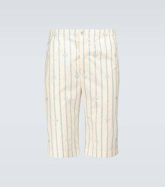 Gucci Double G striped cotton shorts