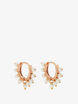 Maria Tash Coronet Pearl & 18kt Rose-gold Single Earring - Rose Gold