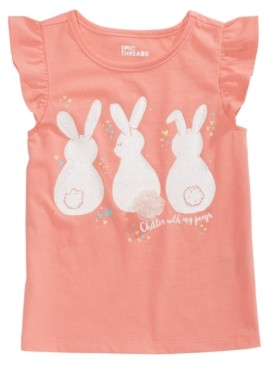 Epic Threads Toddler Girls Bunny Tail T-Shirt, Created for Macy's