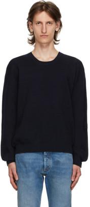 Maison Margiela Navy Wool 14 Gauge Sweater