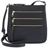 Apt. 9 Robin Triple Zipper Crossbody Bag