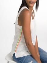 White + Warren Linen Blanket Stitch Tank