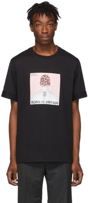 Neil Barrett Black and Pink Album Cover T-Shirt