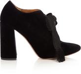 Chloé Harper lace-up velvet pumps