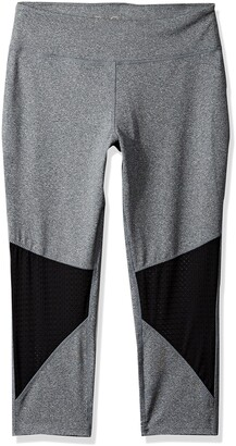The Warm Up by Jessica Simpson Women's Capri Legging with Mesh Insert