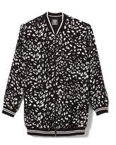 Vince Camuto Animal-print Bomber Jacket