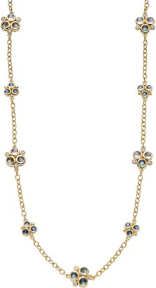 Temple St. Clair Moonstone & Diamond Cluster Necklace