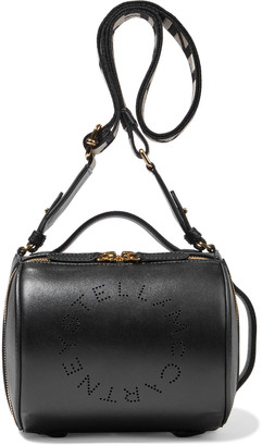 Stella McCartney Stella Logo Perforated Faux Leather Shoulder Bag