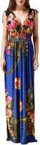 Wantdo Women's Printed Paris Bohemian Summer Maxi Dress Plus