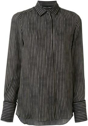 Oscar de la Renta Double Pinstripe button-front shirt