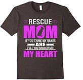 Women's Rescue Dog Moms Full Heart Mothers Day T-Shirt Medium