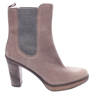 Brunello Cucinelli Beige Leather Ankle boots