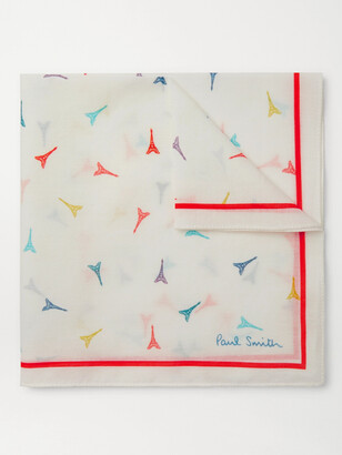 Paul Smith Printed Cotton-Voile Pocket Square