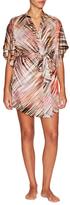 Josie Natori Printed Wrap Robe