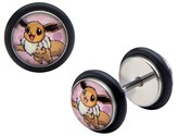 Pokemon Eevee Stainless Steel Screw Back Earrings