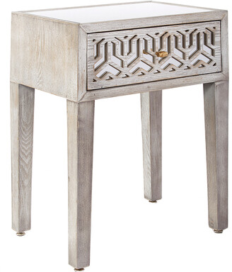 Statements By J Nicoletta Mirrored Nightstand