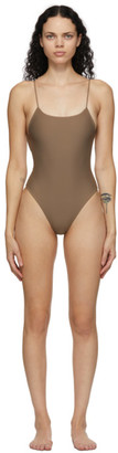 JADE SWIM Brown Trophy One-Piece Swimsuit