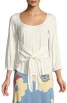 Rachel Pally Catalina Tie-Front Jersey Top, Plus Size